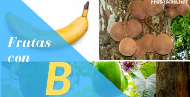 Frutas con la letra B lista de frutas