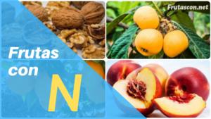 Frutas con la letra N lista de frutas