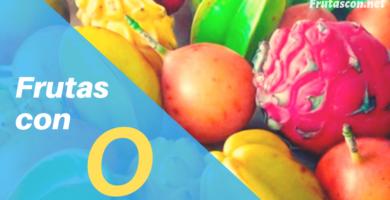 Frutas con la letra O lista de frutas