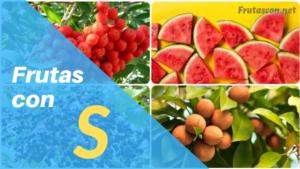 Frutas con la letra S lista de frutas