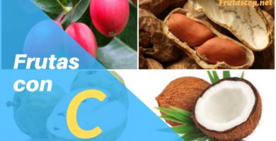 Frutas con la letra C lista de frutas con la c