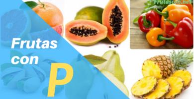 Frutas con P nombres de frutas que empiecen con p