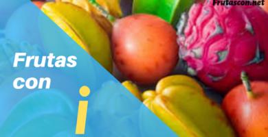 las frutas con la letra i