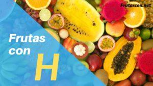 Frutas con la letra H lista de frutas con la h