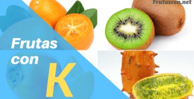 Frutas con la letra K lista de frutas con la k