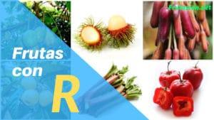 Frutas con la letra R lista de frutas con la r