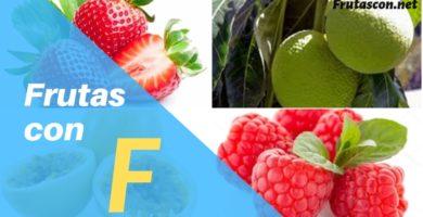 Frutas con la letra F lista de frutas con la f